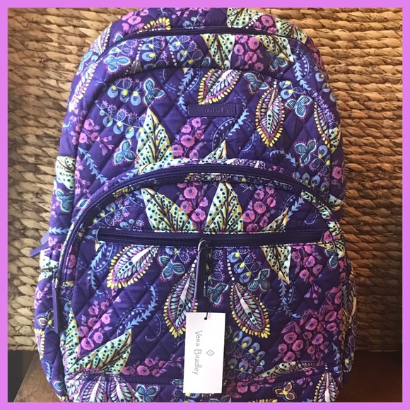 NWT Vera Bradley Essentials Backpack Batik Leaves